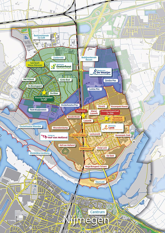 Kaart De Waalsprong Nijmegen